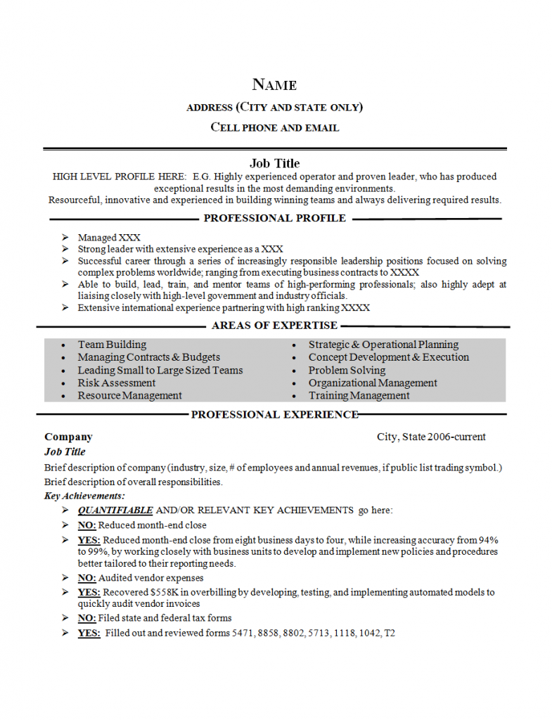 Free Resume Template | Employment Agency in Denver, CO | JC Porter